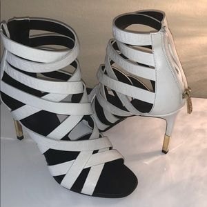 Balmain strappy sandal in white